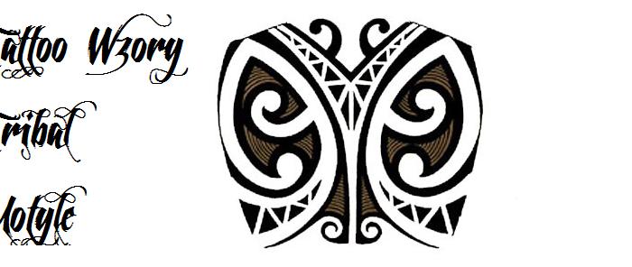 Tatuaże dla dziewczyn tattoo tribal motyle